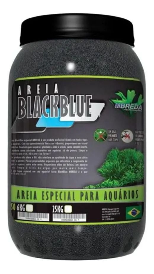 Areia Preta Blackblue 6Kg