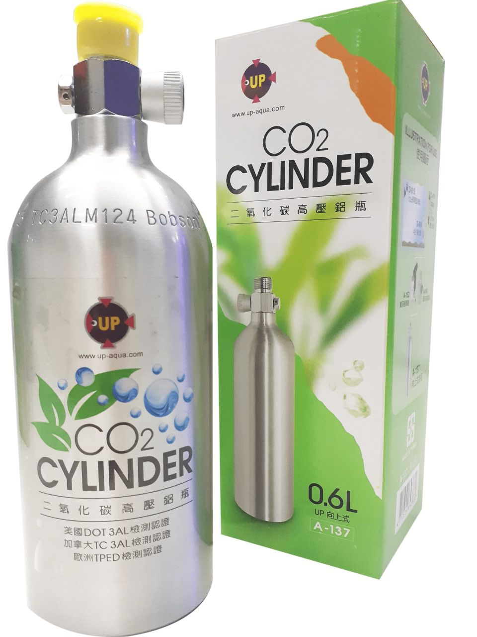 CILINDRO CO2 -,600L ALUMÍNIO RECARREGÁVEL A-137