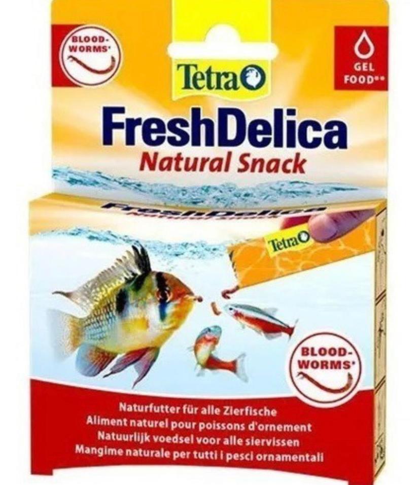 Ração Tetra FreshDelica BloodWoorms 48gr
