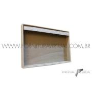 Bandeja Marfim Pequena para Pulseiras - 19x29x3