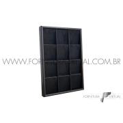 Bandeja Preta Pequena para Conjuntos - Especial 22.5x33x3.5