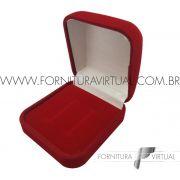 Box com 48 Caixinhas de Veludo para Aliança - Vermelha