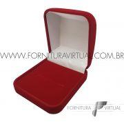 Caixinha de Veludo Vermelha para Anel - 67251