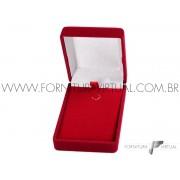 Caixinha de Veludo Vermelha Gargantilha - 44627