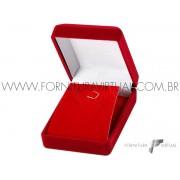 Caixinha de Veludo Vermelha Lapela - 70242