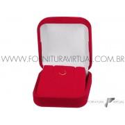 Caixinha de Veludo Vermelha para Brincos/Pingente - 67252