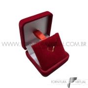 Caixinha Pequenina de Veludo Vermelha Universal - 67682