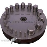 Conjunto cortador de discos com base de madeira - importado