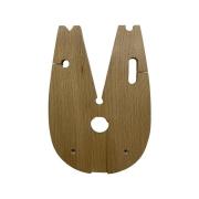 Estilheira de madeira grande com presilha em alumínio