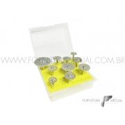 Jogo de Discos Diamantados com Mandril - Misto 10 peças