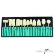 Jogo de escovas robinson de feltro - 12 unidades diversas