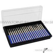 Kit Com 20 Pontas Diamantadas Para Retifica Manual Western