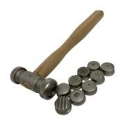 Martelo de aço com 9 pontas para textura