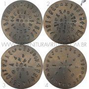 Matriz / Cunho de Emblema - Combo com 4 unidades (Queijinha)