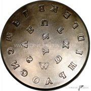 Matriz / Cunho de Emblema - Número 5 (Queijinha) - Alfabeto