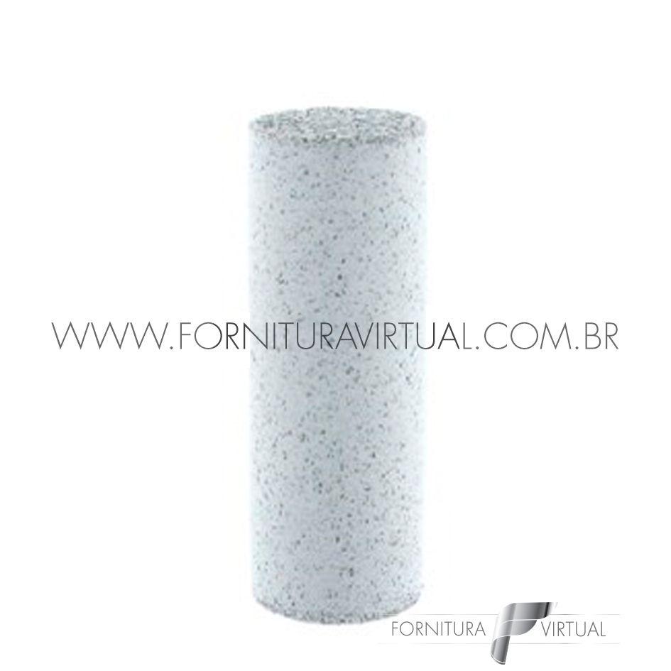 Abrasivo de silicone - Branco Cilindro