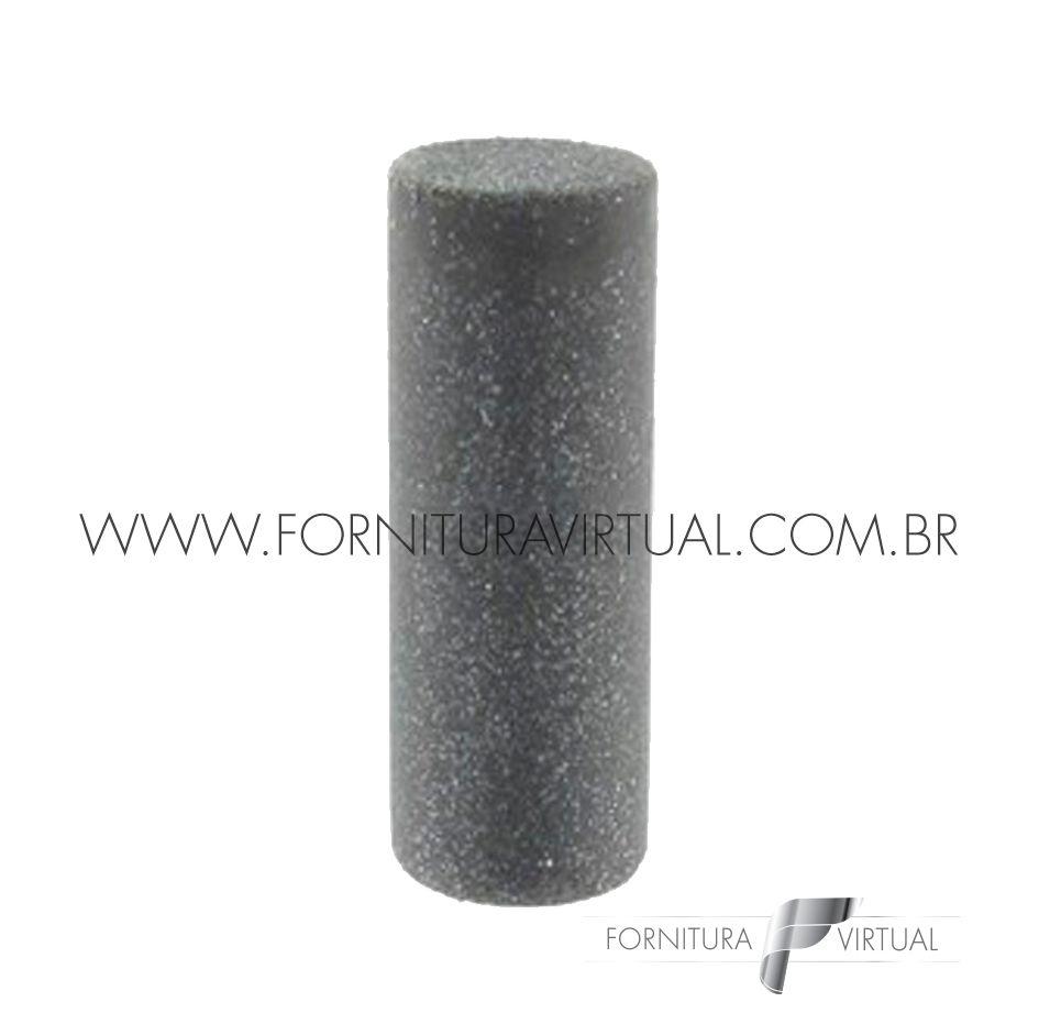 Abrasivo de silicone - Preto Cilindro