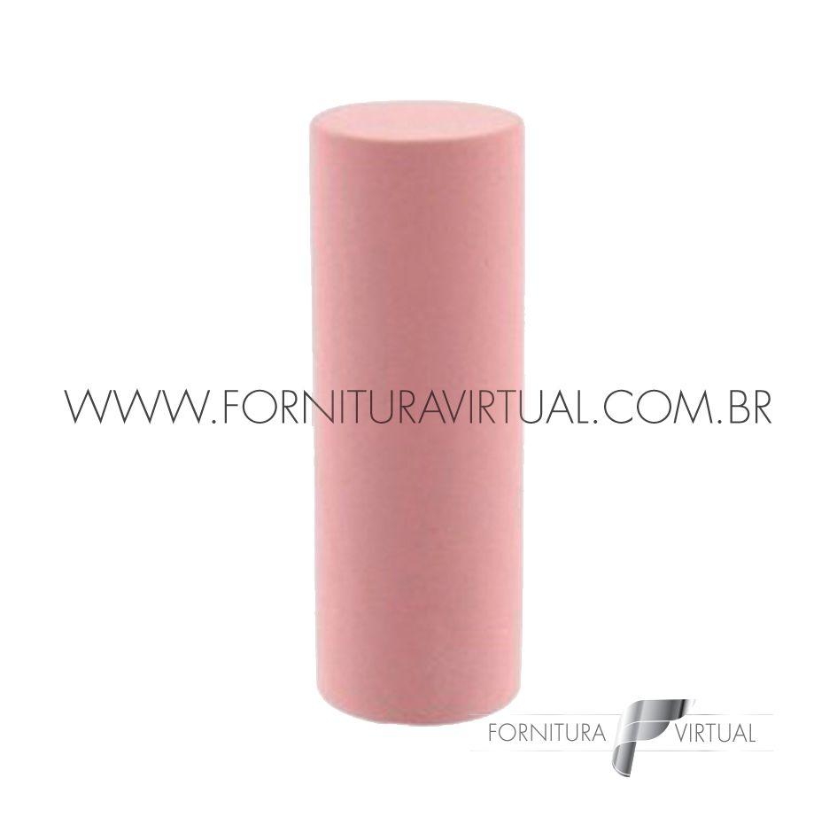 Abrasivo de silicone - Rosa Cilindro