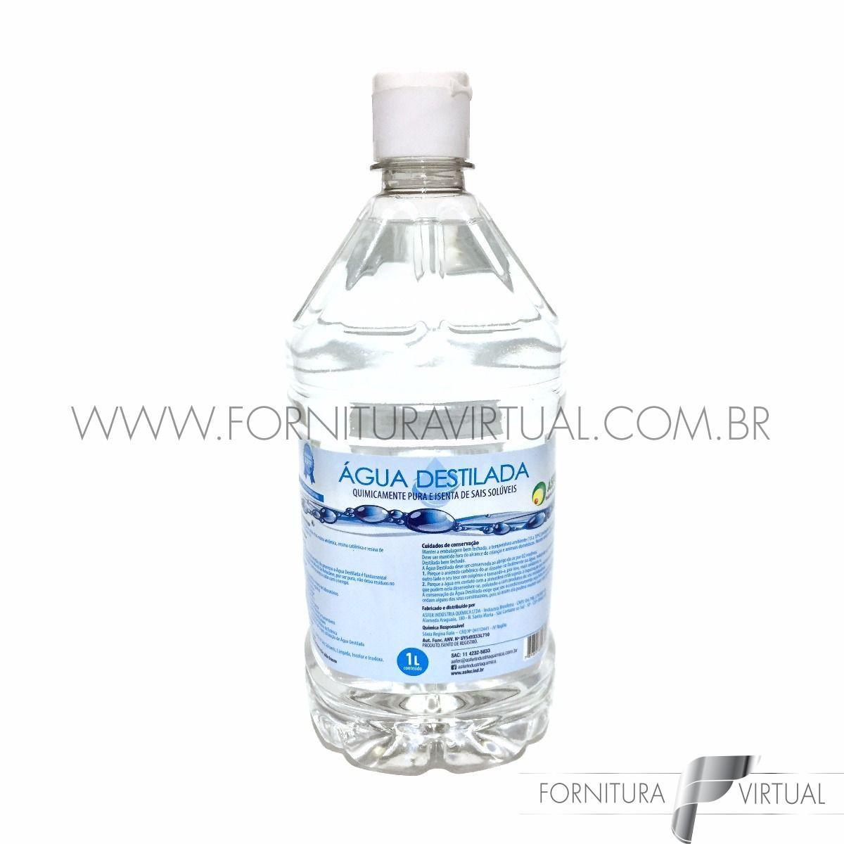 Água destilada Asfer - 1L