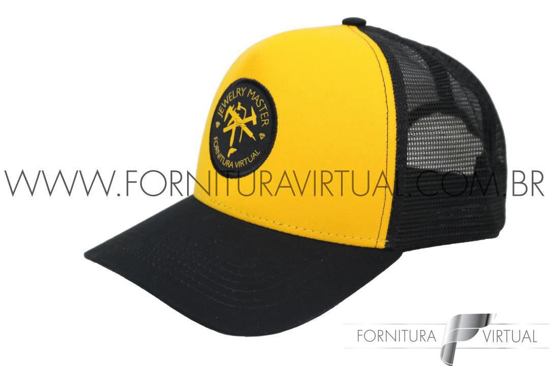 Boné Fornitura Virtual - Jewelry Master - Amarelo e preto
