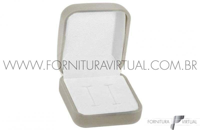 Box com 48 Caixinhas de Veludo para Aliança - Cinza