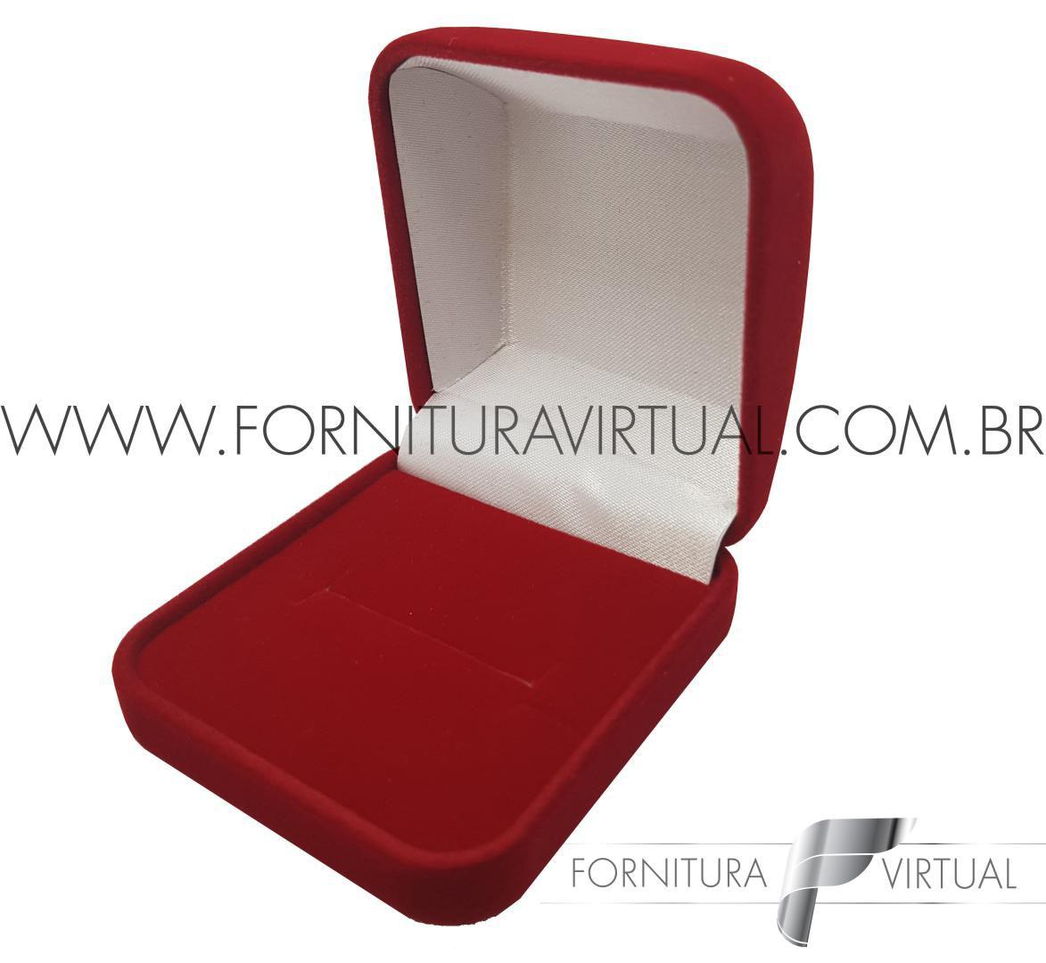 Box com 48 Caixinhas de Veludo para Anel - Vermelha