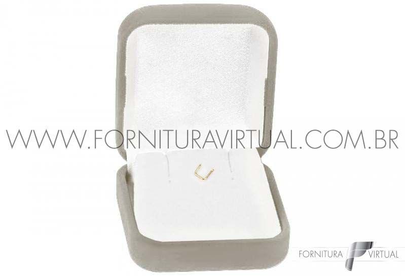 Box com 48 Caixinhas de Veludo para Brincos/Pingente - Cinza