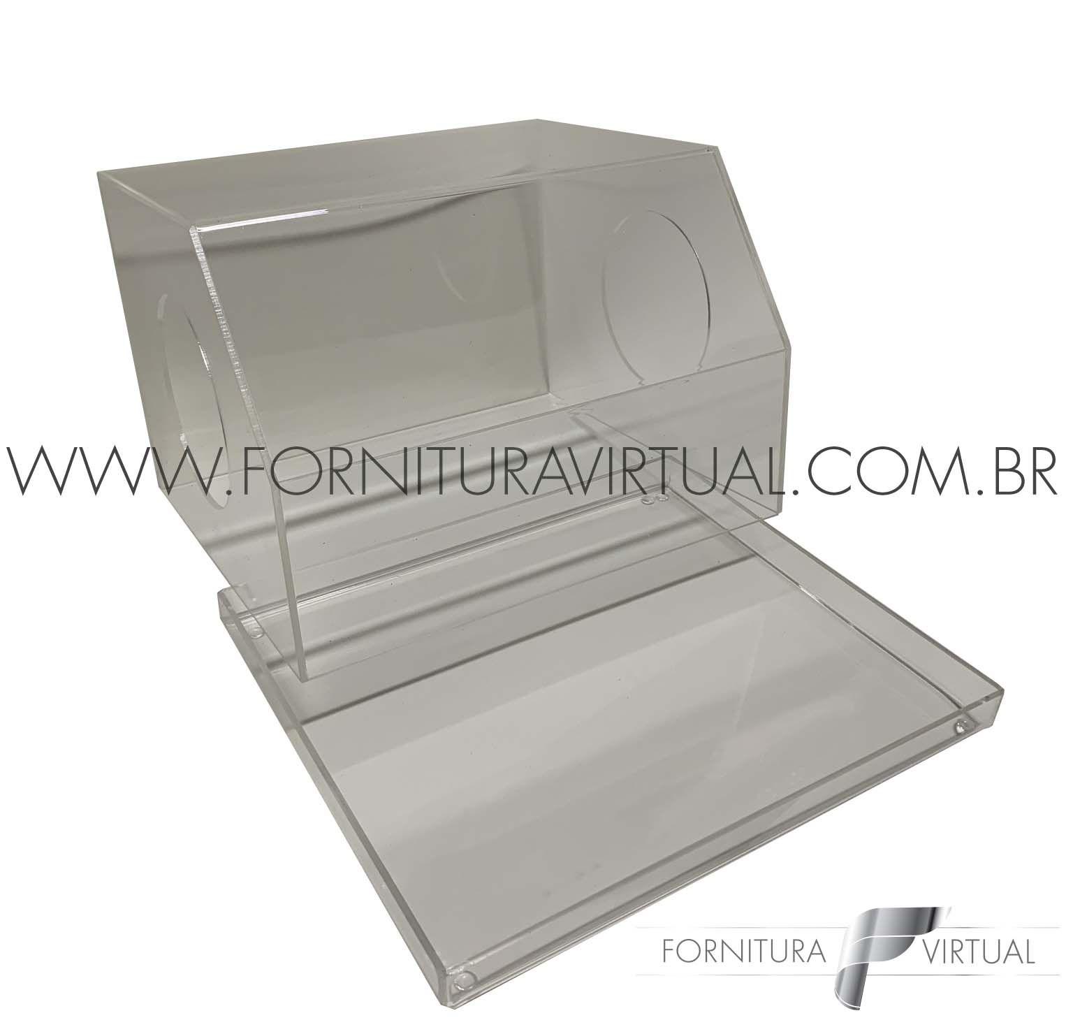 Caixa acrílica protetora para polimento manual