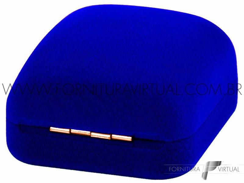Caixinha de Veludo Azul para Alianças - 77125
