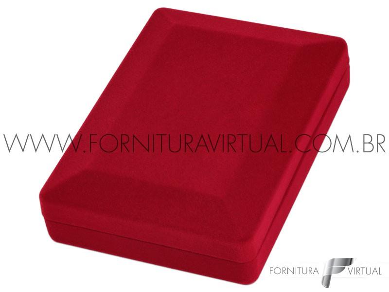 Caixinha de Veludo Vermelha Universal Maior - 15632