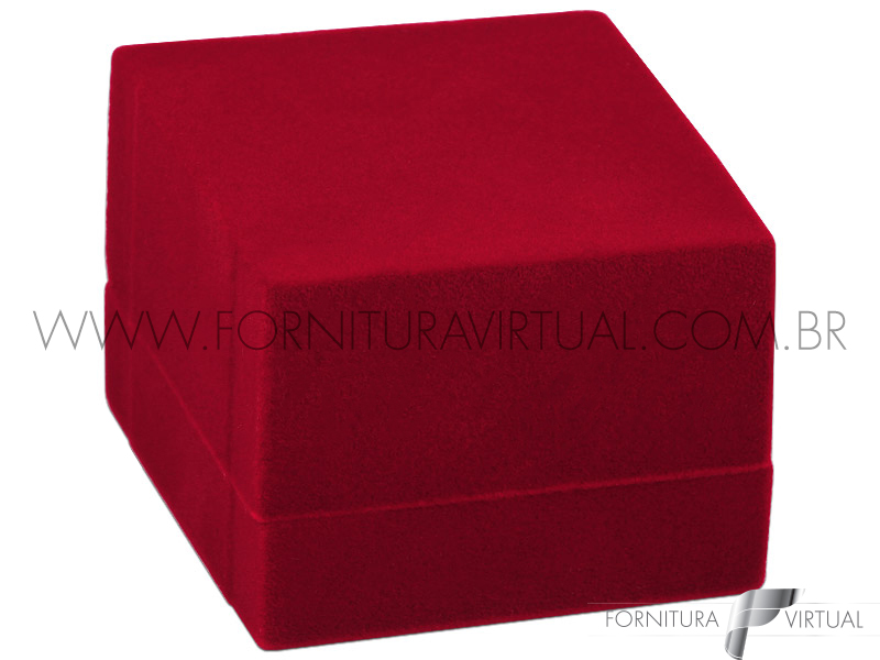 Caixinha de Veludo Vermelho para Anel Largo - 73798
