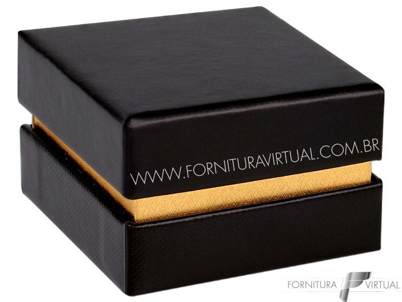 Caixinha/Estojo Preta/Dourada para Anel - 69968 - Linha Lofty