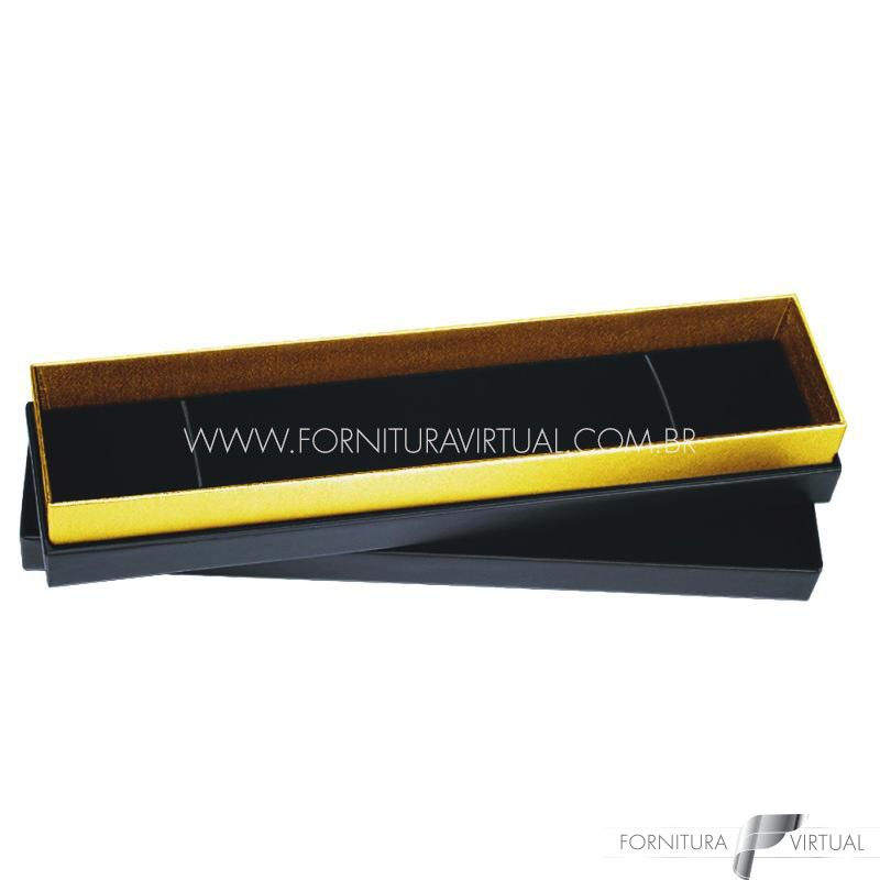 Caixinha/Estojo Preta/Dourada para Pulseira - 69971 - Linha Lofty