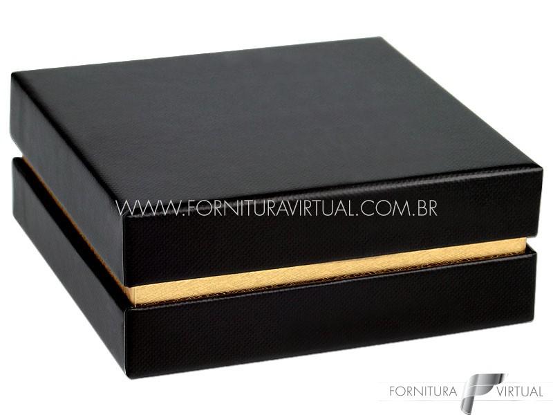 Caixinha/Estojo Preta/Dourada Universal - 69970 - Linha Lofty