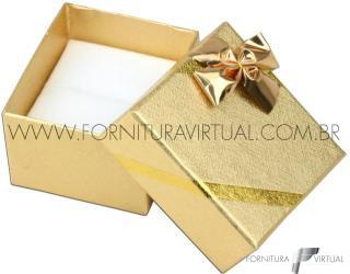Caixinha Laminada Dourada para Anel - 67043
