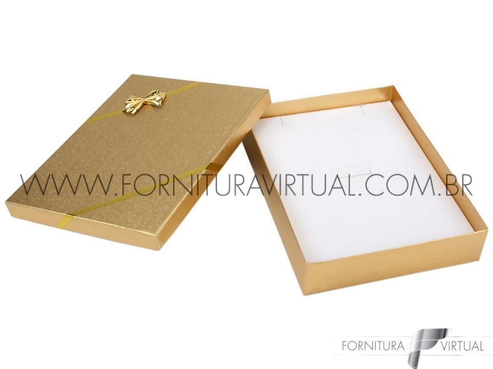 Caixinha Laminada Dourada para Conjunto G - 67051