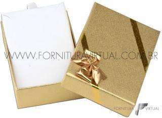 Caixinha Laminada Dourada para Conjunto P - 67047