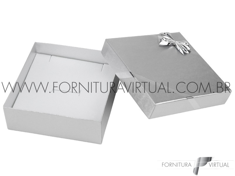 Caixinha Laminada Prata para Conjunto M - 41492