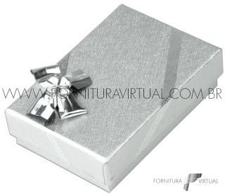 Caixinha Laminada Prata para Conjunto P - 15545