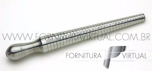 Calibre/Medidor de anéis em metal (Pau de medida)