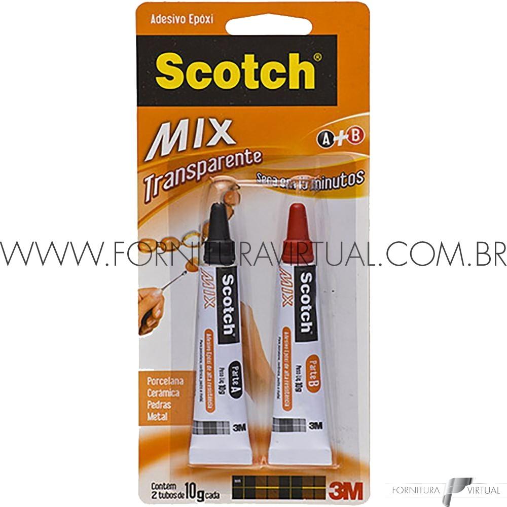 Cola Adesiva Epóxi 10g transparente 3M Scotch® Mix
