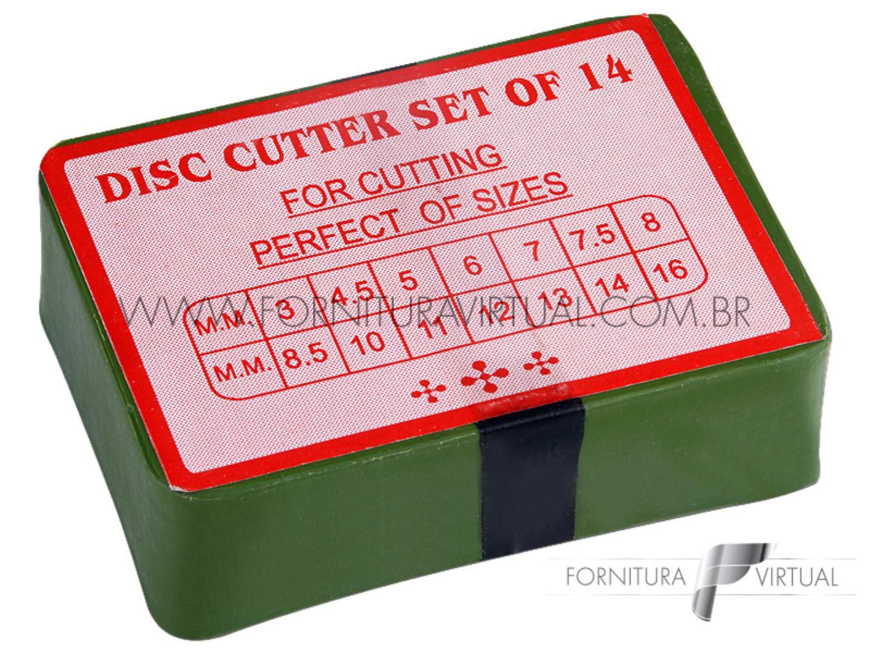 Conjunto cortador de discos 14 tamanhos - Indiano