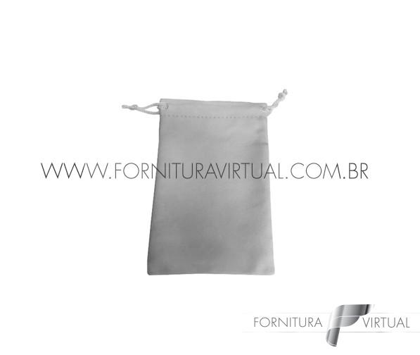 Saquinho de Suede Cinza P (10 unidades) - 85204