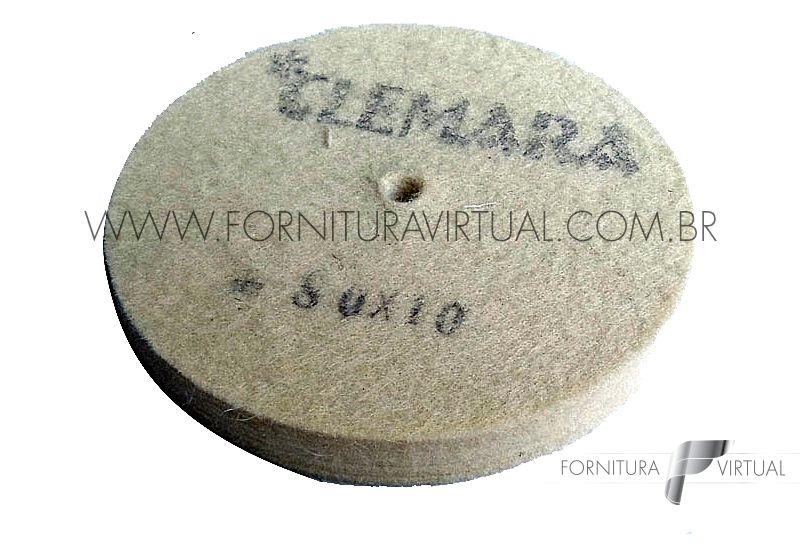 Disco de Feltro Clemara - 80mm x 10mm
