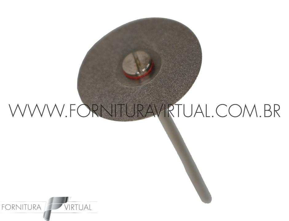 Disco Diamantado Dupla Face com Mandril - Pequeno 13mm