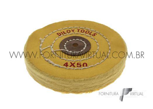 """Escova Circular de Algodão Amarelo 4"""" - Diloy"""