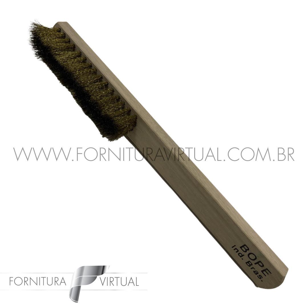 Escova Manual de Latão 4 Fileiras - BOPE