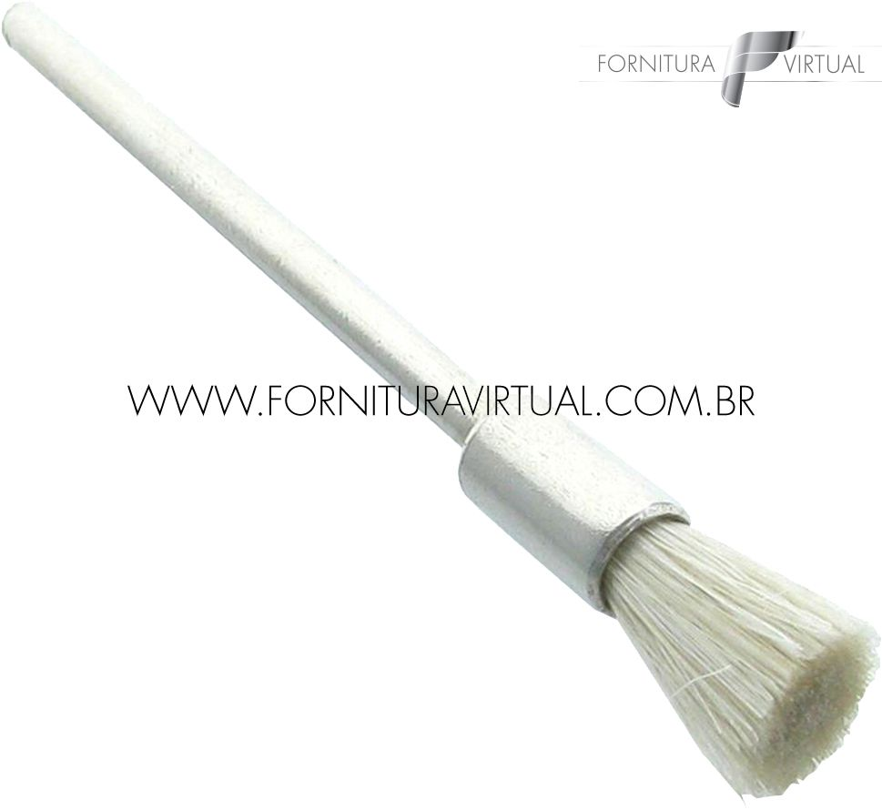 Escova Robinson Pincel de Pelo Branco