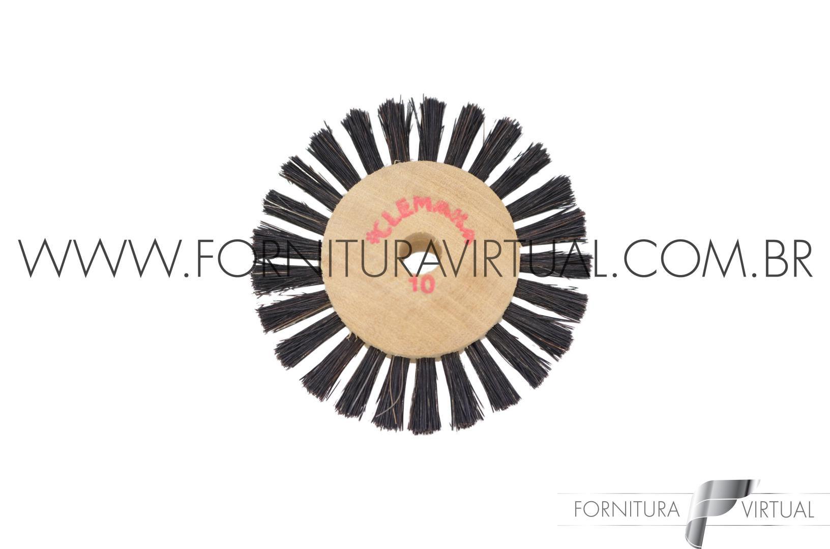 Escova Rotativa de Crina nº10 - Clemara
