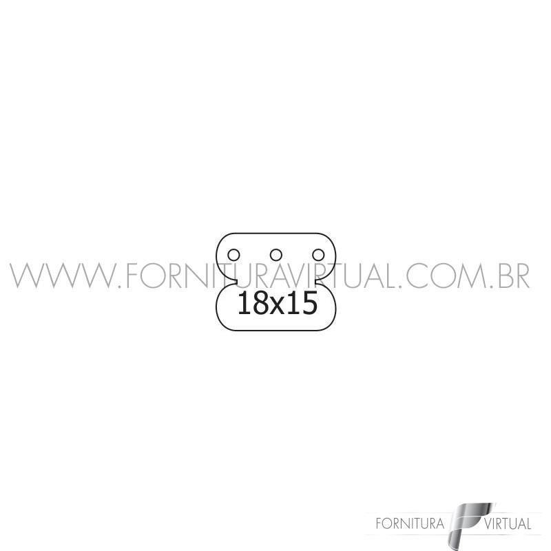 Etiqueta para brinco - 3 furos - 1000 unidades
